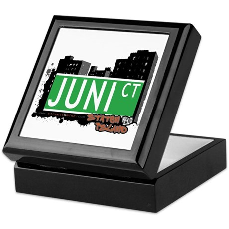 JUNI COURT, STATEN ISLAND, NYC Keepsake Box