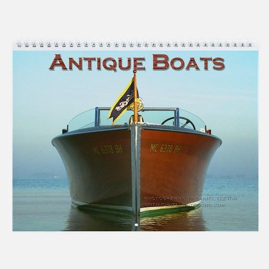 Antique Boats Custom Wall Calendar