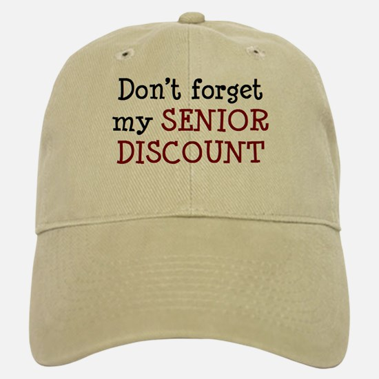 senior discount Baseball Baseball Cap