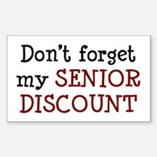 senior discount Sticker (Rectangle)