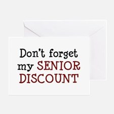 senior discount Greeting Card