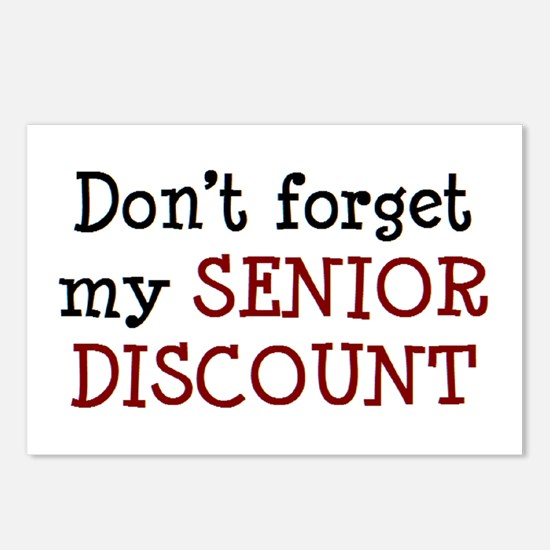 senior discount Postcards (Package of 8)