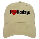I Love Monkeys Cap