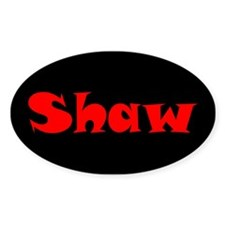 Shaw Oval Decal