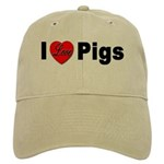 I Love Pigs for Pig Lovers Cap