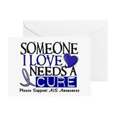 Needs A Cure ALS T-Shirts & Gifts Greeting Card