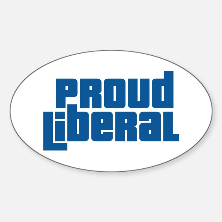 Proud Liberal Oval Decal