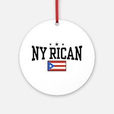 NY Rican Ornament (Round)