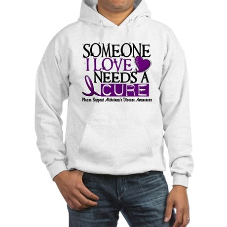 Needs A Cure ALZHEIMERS DISEASE Hooded Sweatshirt
