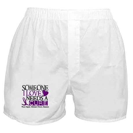 Needs A Cure ALZHEIMERS DISEASE Boxer Shorts