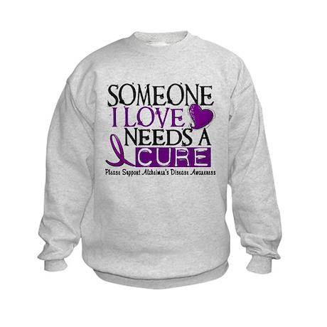 Needs A Cure ALZHEIMERS DISEASE Kids Sweatshirt