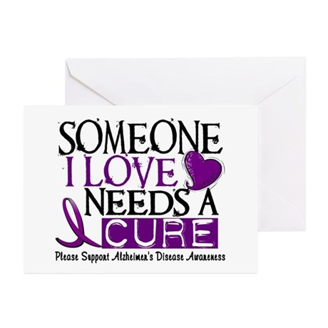 Needs A Cure ALZHEIMERS DISEASE Greeting Cards (Pk
