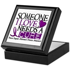Needs A Cure ALZHEIMERS DISEASE Keepsake Box