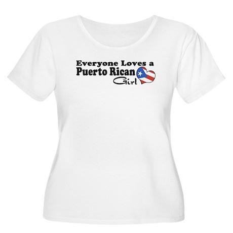 Puerto Rican Girl Women's Plus Size Scoop Neck T-S