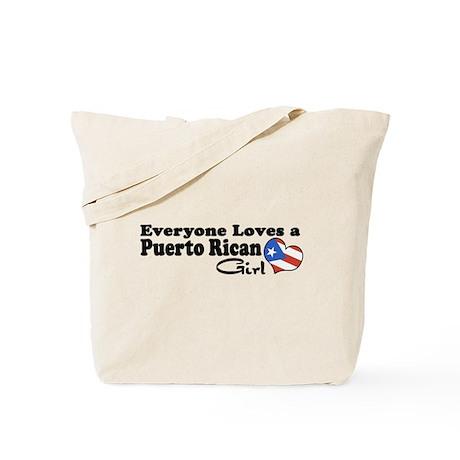 Puerto Rican Girl Tote Bag