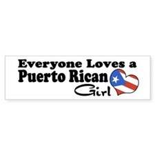 Puerto Rican Girl Bumper Bumper Sticker