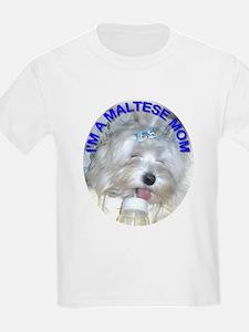 I'm A Maltese Mom Kids T-Shirt
