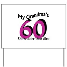 Grandma's 60th Birthday Yard Sign