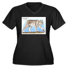 Canadian Lynx Women's Plus Size V-Neck Dark T-Shir