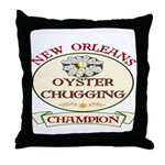 Oyster Eating Champion Throw Pillow
