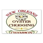 Oyster Eating Champion Rectangle Sticker