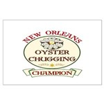 Oyster Eating Champion Large Poster
