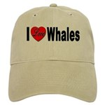 I Love Whales for Whale Lover Cap