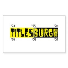 Titlesburgh (Pittsburgh) Rectangle Decal
