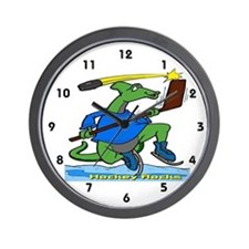Hockey Rocks Wall Clock