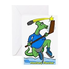 Hockey Rocks Greeting Card
