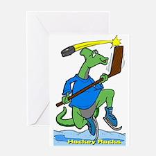 Hockey Rocks Greeting Card
