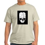 Cats Skull Ash Grey T-Shirt