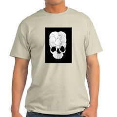 Cats Skull Ash Grey T-Shirt