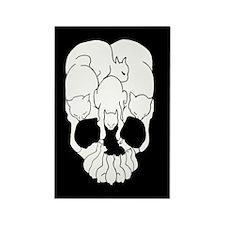 Cats Skull Rectangle Magnet