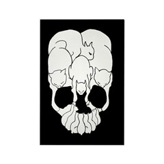 Cats Skull Rectangle Magnet