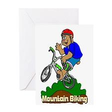 Mountain Biking Greeting Card