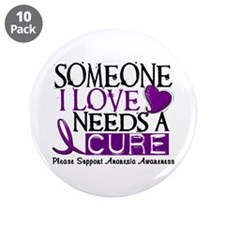 """Needs A Cure ANOREXIA 3.5"""" Button (10 pack)"""