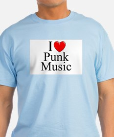 """I Love (Heart) Punk Music"" T-Shirt"