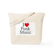 """I Love (Heart) Punk Music"" Tote Bag"