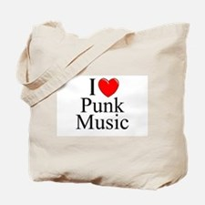 """I Love (Heart) Punk Music"" Tote Bag"