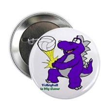 """Volleyball 2.25"""" Button (10 pack)"""