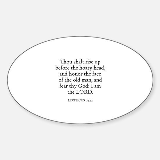 LEVITICUS 19:32 Oval Decal