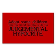 No Hypocrisy Rectangle Decal