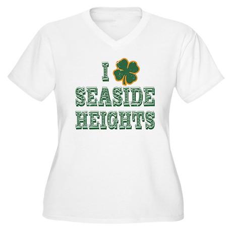 I Shamrock Seaside Heights Women's Plus Size V-Nec