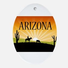 Arizona Oval Ornament