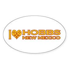 I Love Hobbs, NM Oval Sticker