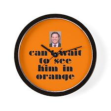 DeLay prison orange Wall Clock