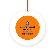 DeLay prison orange Ornament (Round)