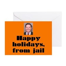 Happy Holidays from jail Cards (Pk of 10)