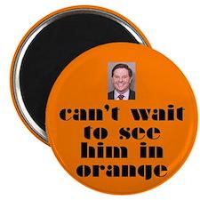 DeLay prison orange Magnet